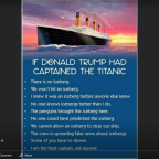 Titanic Trump ask Anyone.